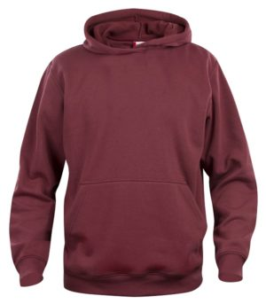 Basic hoody jr Bordeaux van Clique - Categorie Sweatshirts