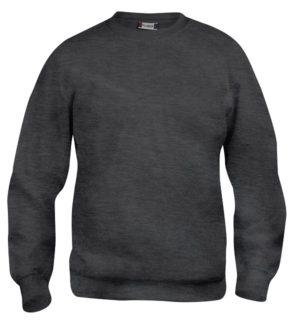 Basic roundneck Antraciet Mélange van Clique - Categorie Sweatshirts