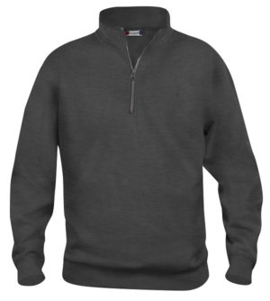 Basic halfzip Antraciet Mélange van Clique - Categorie Sweatshirts
