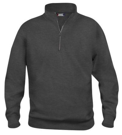 Basic halfzip Antraciet Mélange van Clique - Categorie Sweatshirts