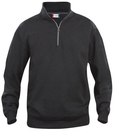 Basic halfzip Zwart van Clique - Categorie Sweatshirts