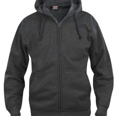 Basic hoody full zip Antraciet Mélange van Clique - Categorie Sweatshirts