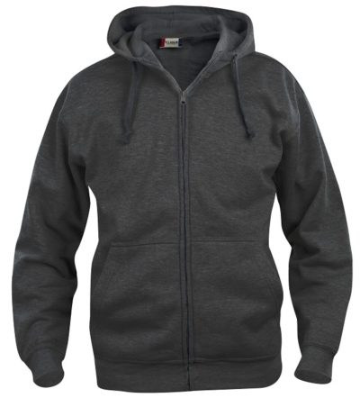 Basic hoody full zip Antraciet Mélange van Clique - Categorie Sweatshirts