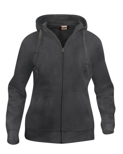 Basic hoody full zip ds Antraciet Mélange van Clique - Categorie Sweatshirts