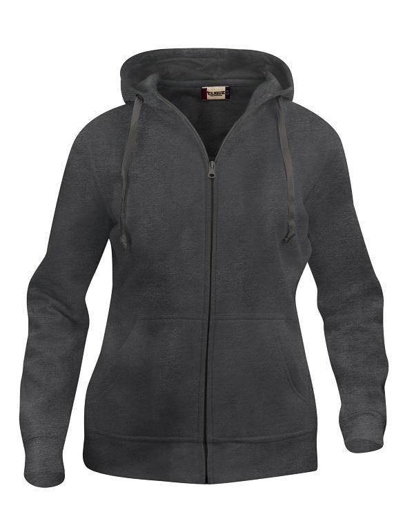 Basic hoody full zip ds Antraciet Mélange van Clique - Categorie Sweatshirts