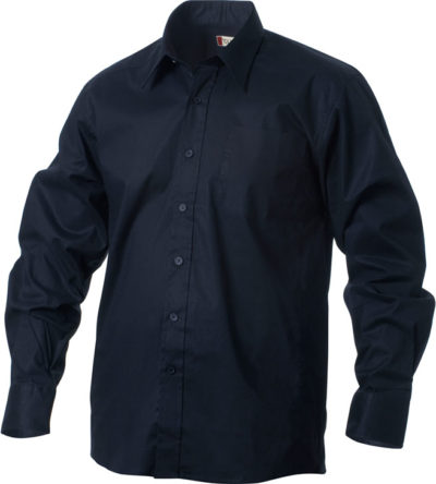 Samson L/S Dark Navy van Clique - Categorie Shirts