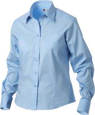 Rutland L/S Lichtblauw van Clique - Categorie Shirts