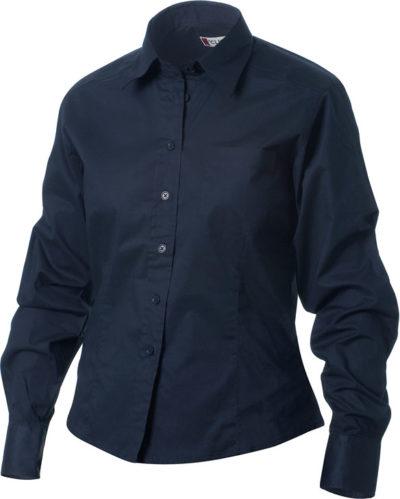 Rutland L/S Dark Navy van Clique - Categorie Shirts