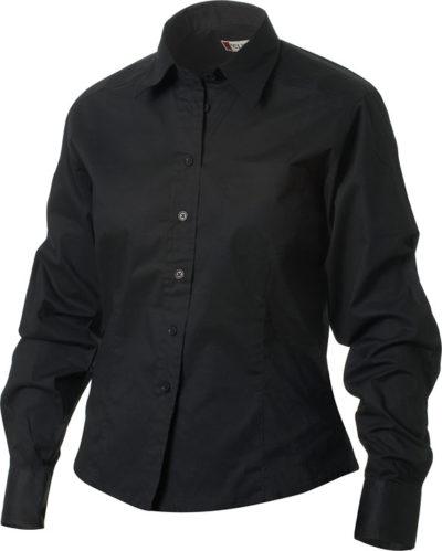 Rutland L/S Zwart van Clique - Categorie Shirts