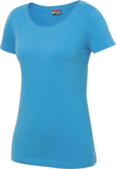 Carolina S/S Turquoise van Clique - Categorie T-shirts