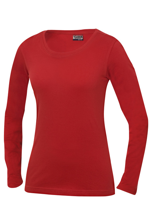 Carolina L/S Rood van Clique - Categorie T-shirts