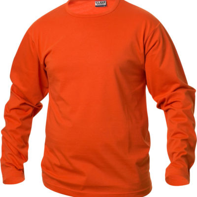 Fashion-T L/S Diep-Oranje van Clique - Categorie T-shirts