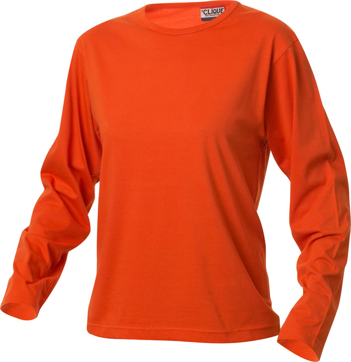 Fashion-T L/S Ladies Diep-Oranje van Clique - Categorie T-shirts