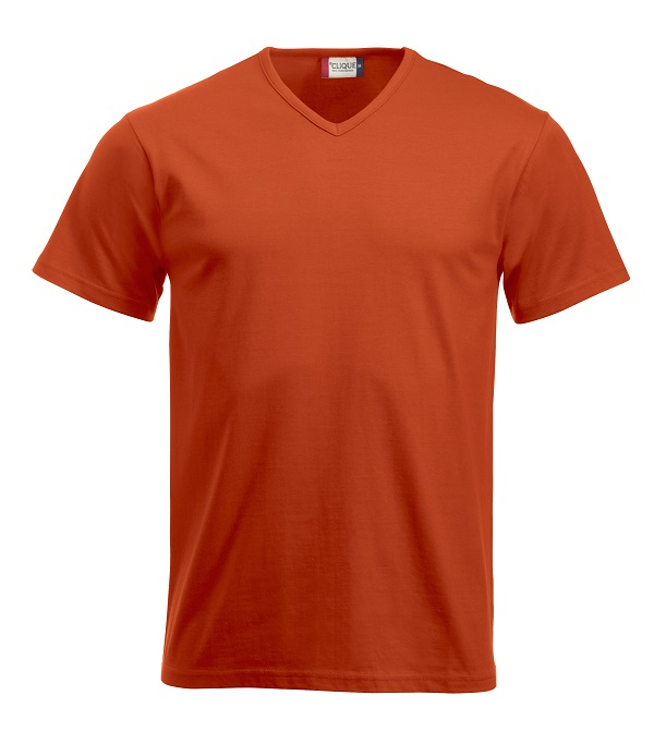 Fashion-T V-neck Diep-Oranje van Clique - Categorie T-Shirts