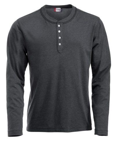Orlando hr T-shirt Antraciet Mélange van Clique - Categorie T-Shirts