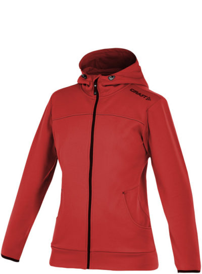 Craft Leisure Full Zip Hood Women bright red XXL bright red
