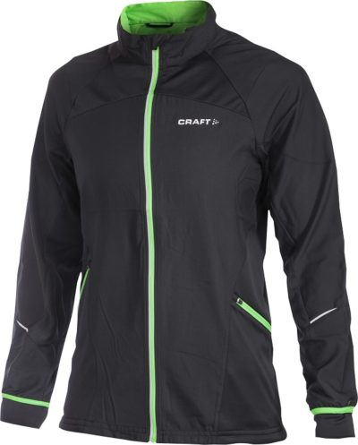 Craft Dedication Jacket men black/Craft green xxl Craft green