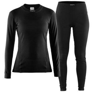 Craft Active Set women T-shirt L/S & Pants black 3xl black