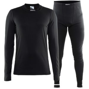 Craft Active Set men T-shirt L/S & Pants black 4xl black