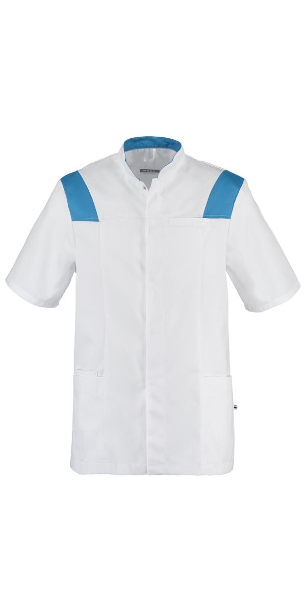Haen Addy verplegersjas Wit met peacock contrast zorgkleding