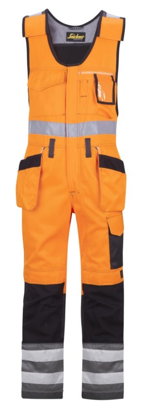Snickers Bodybroek met holsterzakken High Visibility