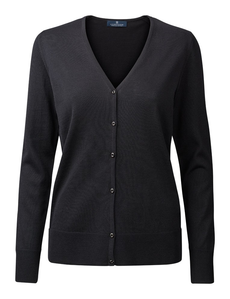 Clipper Duplex women's cardigan Black