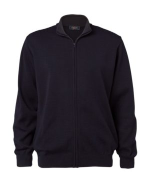 Clipper men's zip cardigan Navy