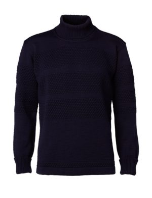 Clipper SAILOR men's roll-neck pullover Navy