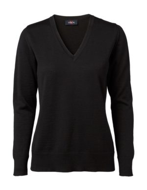 Clipper women's v-neck pullover Black