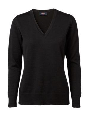 Clipper women's v-neck pullover Black