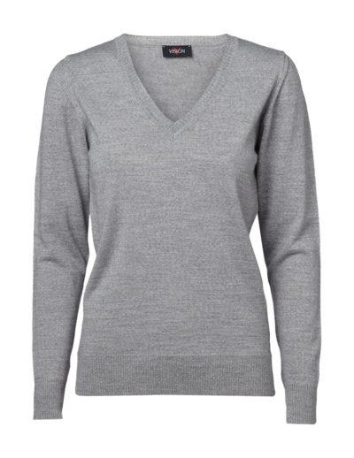 Clipper women's v-neck pullover Grey