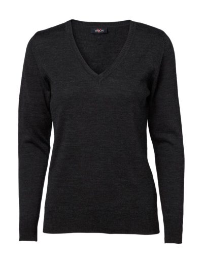 Clipper women's v-neck pullover Charcoal