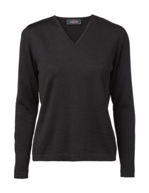 Clipper women's V pullover Black