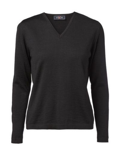 Clipper women's V pullover Black