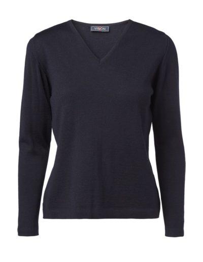 Clipper women's V pullover Navy