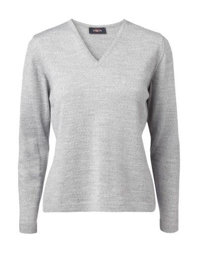 Clipper women's V pullover Grey