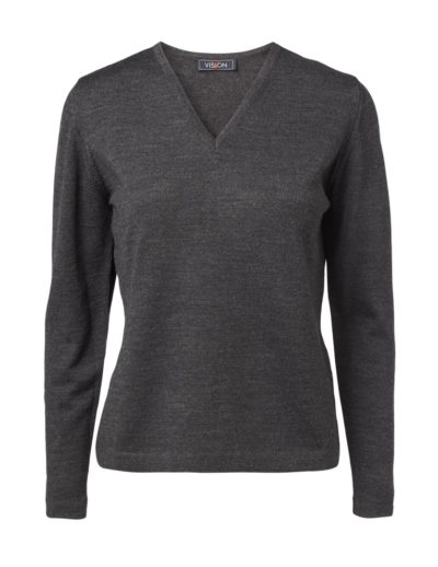 Clipper women's V pullover Charcoal