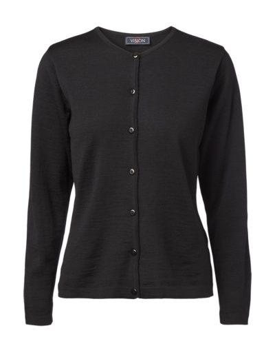 Clipper women's O cardigan Black