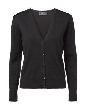 Clipper women's V cardigan Black