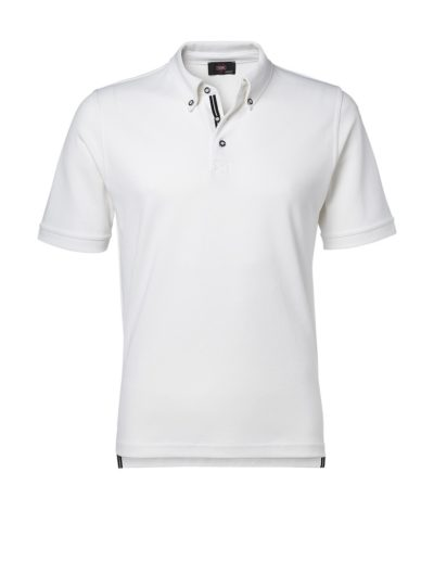 Clipper men's polo with contrast colour White
