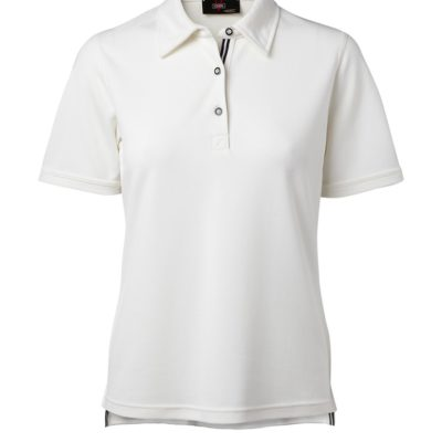 Clipper women's polo with contrast colour White