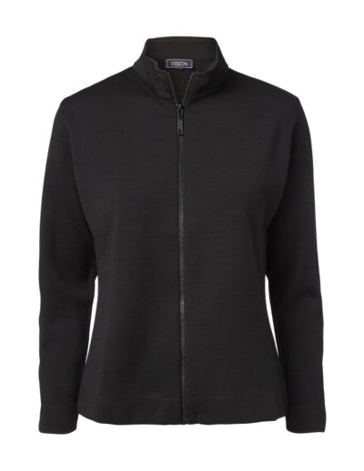 Clipper women's zip cardigan Black