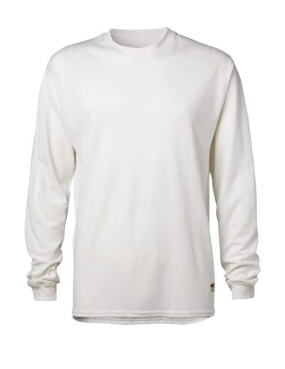 Clipper base layer o-neck LS White