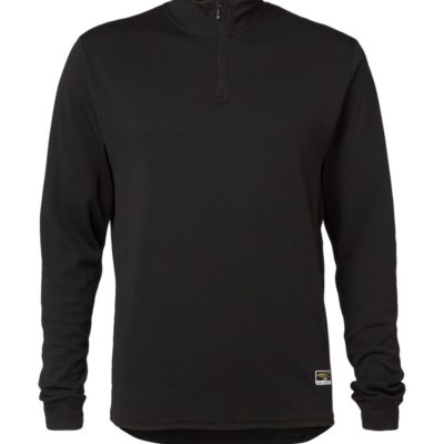 Clipper base layer zip neck LS Black