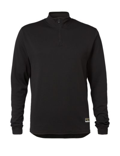 Clipper base layer zip neck LS Black