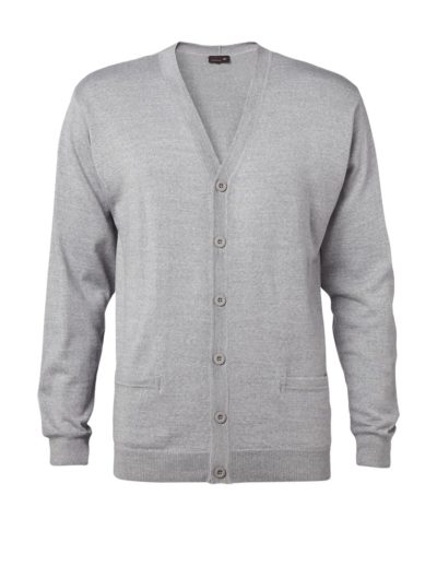 Clipper men's cardigan Grey