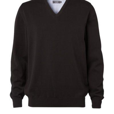 Clipper men's Cotton v-neck Black