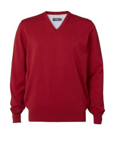 Clipper men's Cotton v-neck Red