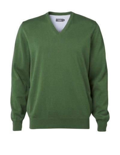 Clipper men's Cotton v-neck Green
