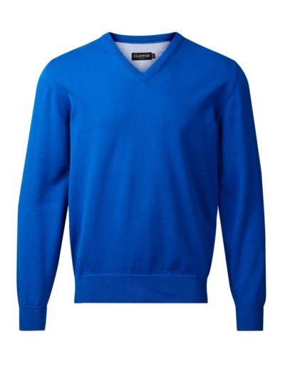 Clipper men's Cotton v-neck Blue